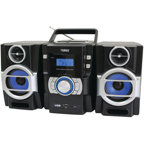 Naxa NPB429 Portable CD/MP3 Player with PLL FM Radio, Detachable Speakers and Remote