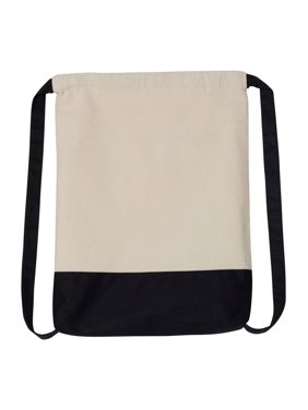 791f96080c3 Product Image 8876 10 Ounce Cotton Canvas Contrast Bottom Drawstring  Backpack