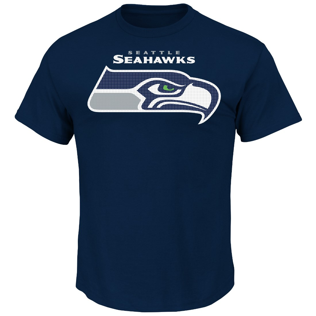 "Seattle Seahawks Majestic NFL ""Critical Victory 2"" Men's T-Shirt - Navy"