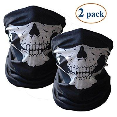 skull mask bandana headwear scary dust-proof windproof motorcycle half face mask