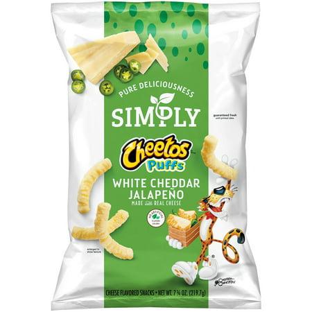 cheetos simply puffs white cheddar jalapeno 7 75 oz walmart com
