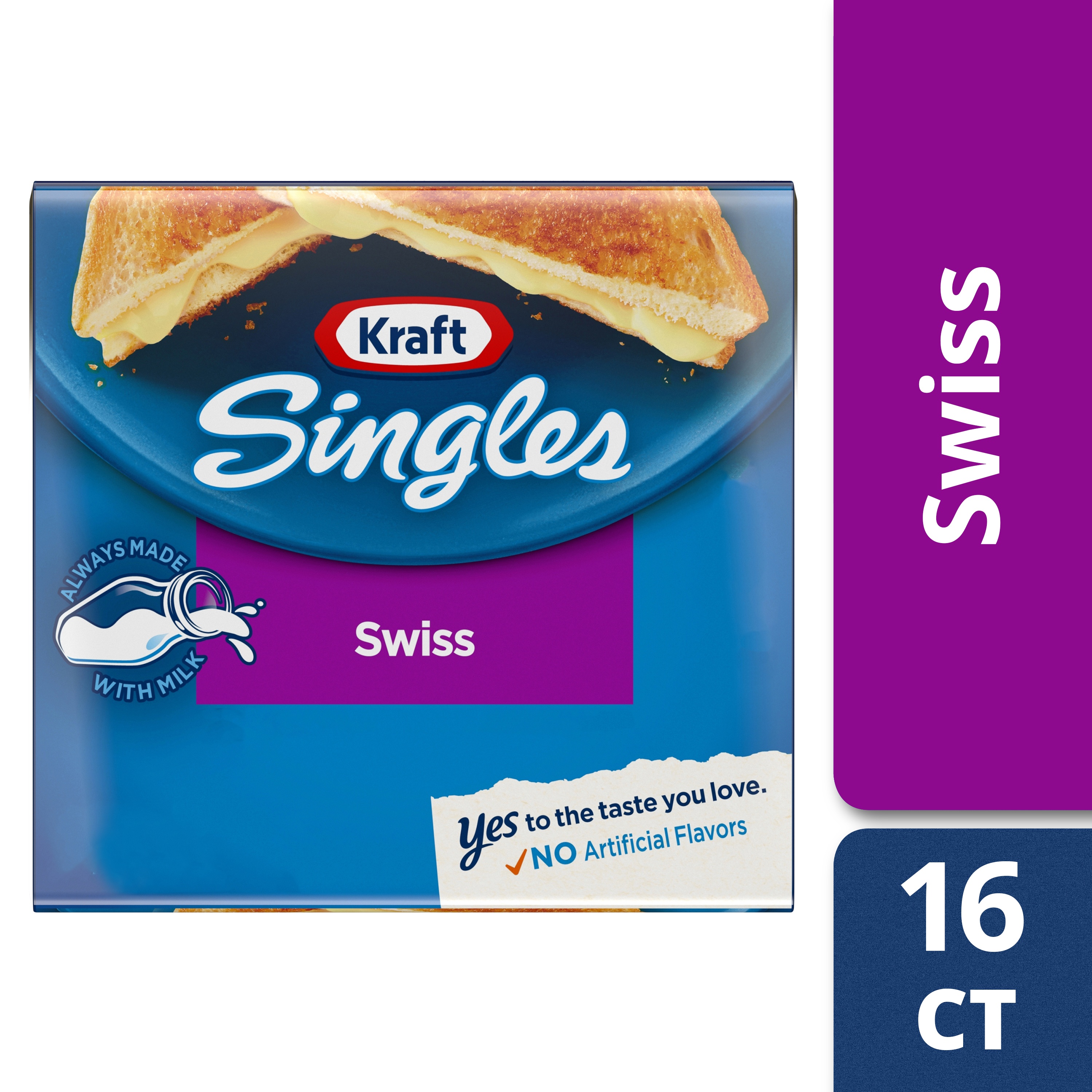 Kraft Singles Swiss Cheese Slices, 12 Ounce (16 slices)