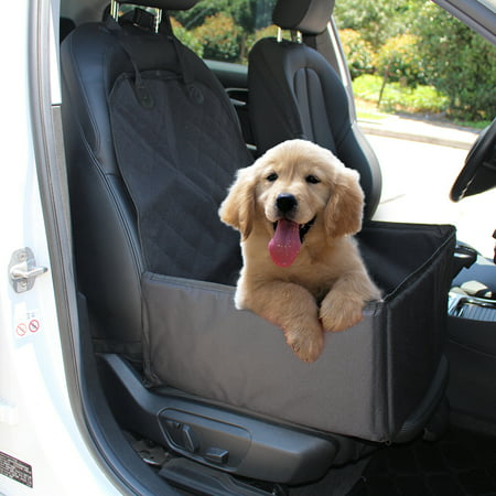 Small Booster (Dog Car Seat Portable Pet Dog Booster Car Seat with Safety Belt Perfect for Small and Medium)