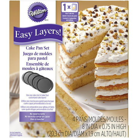 Wilton Easy Layers! Cake Pan Set, 8 in., 4 pc. (Pokemon Cake Pan)