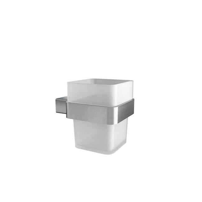 Volkano V3554 Cinder Glass Tumbler - Brushed Nickel - image 1 of 1
