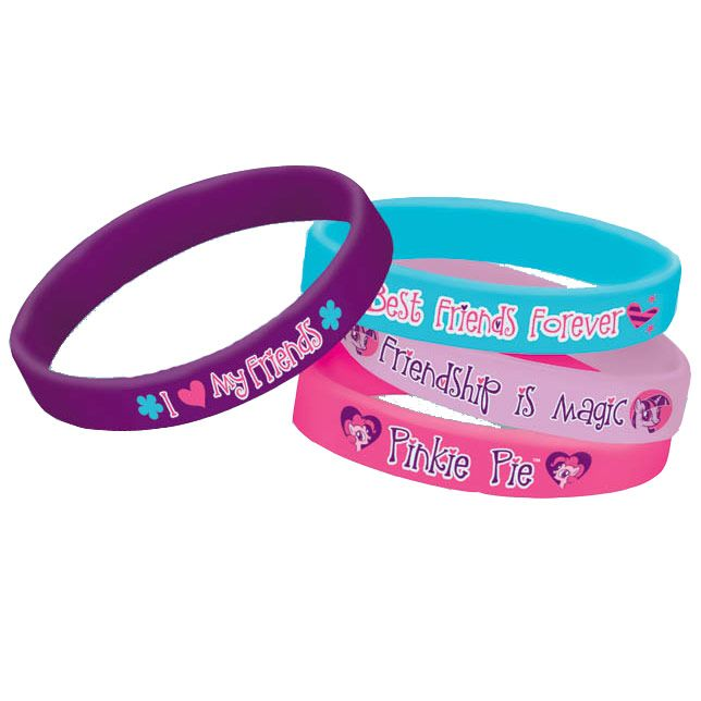 My Little Pony Rubber Bracelet Favors (4 Pack) - Party Supplies