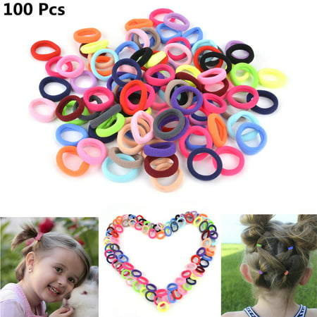 Fascigirl 100Pcs Hair Ties Cute Elastic No Crease No Damage Tiny Hair Bands Ponytail Holder Colorful Hair Accessories for Girls Teens Child Baby Girls Fine Hair, Curly Hair or Sensitive Scalps](50s Ponytails)
