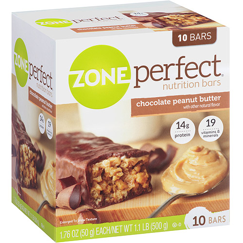 ZonePerfect Chocolate Peanut Butter Nutrition Bars 1.76 oz, 10 count