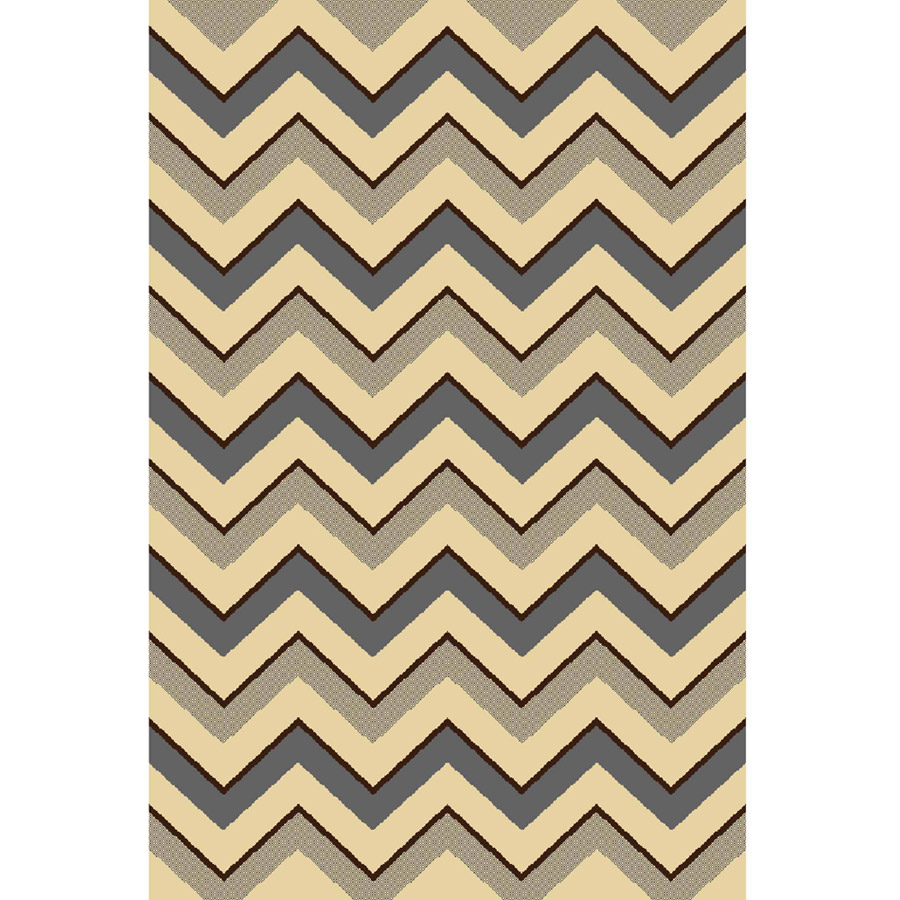 "Home Dynamix Royalty Collection Area Rug, Grey-Ivory, 31"" x 50"""