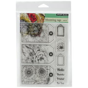 """Penny Black Clear Stamps, 5"""" x 7.5"""" Sheet, Blooming Tags"""