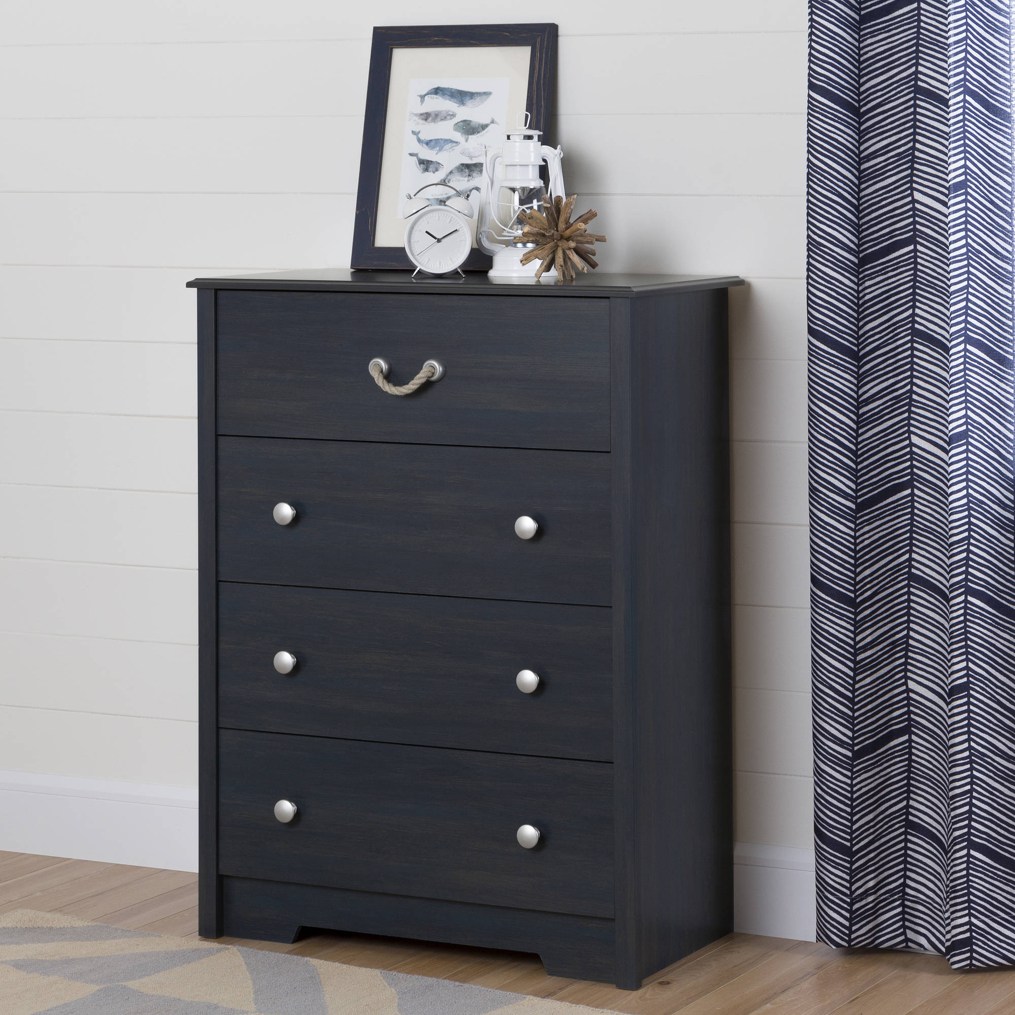 South Shore Aviron 4-Drawer Chest, Blueberry by South Shore