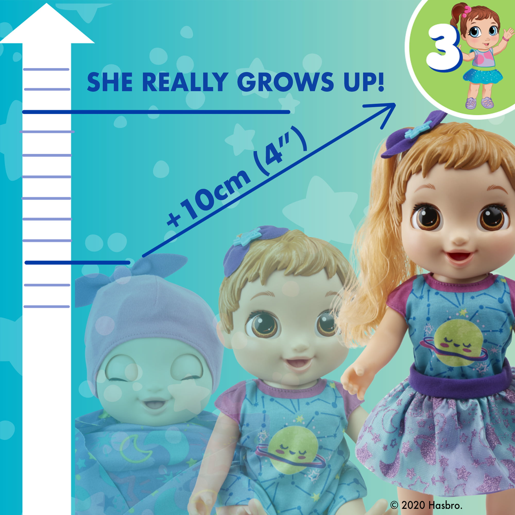 Baby Alive Dreamy Baby Grows Up Happy Baby Doll Toy
