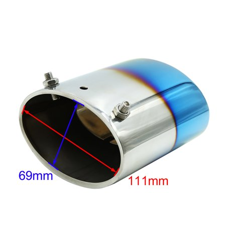 111 x 69mm Inlet Stainless Steel Car Exhaust Pipe Muffler for Buick Legal - image 2 de 3