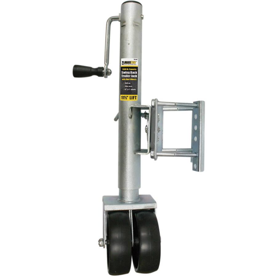 MaxxHaul 70149 -1500 lb Swing Back Trailer Jack with Dual Wheel by MAXXHAUL