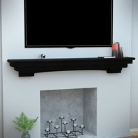 Alvin Fireplace Mantel Shelf, Traditional, Smoked Ash