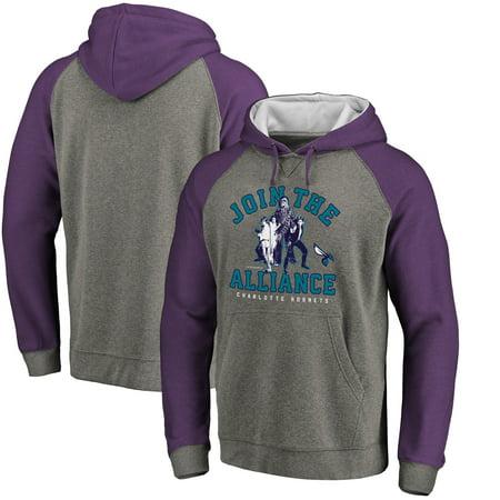 Charlotte Hornets Fanatics Branded Star Wars Alliance Raglan Sleeve Pullover Hoodie - Heathered Gray