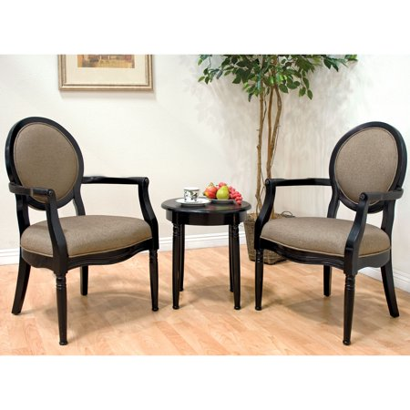 Best Master Furniture 39 S 3 Piece Traditional Living Room Accent Chair And Table Set