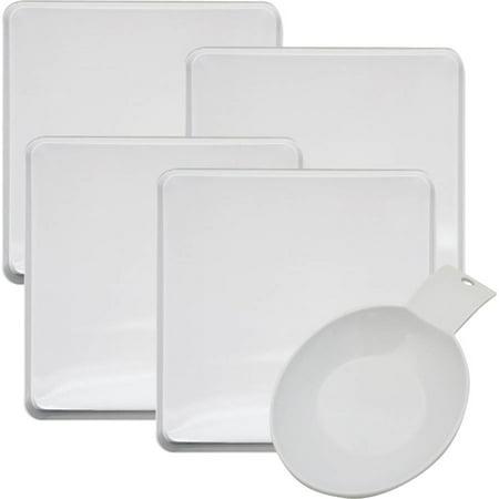 Range Kleen 5-Pack Square White Burner Cover, White Spoon Rest for $<!---->