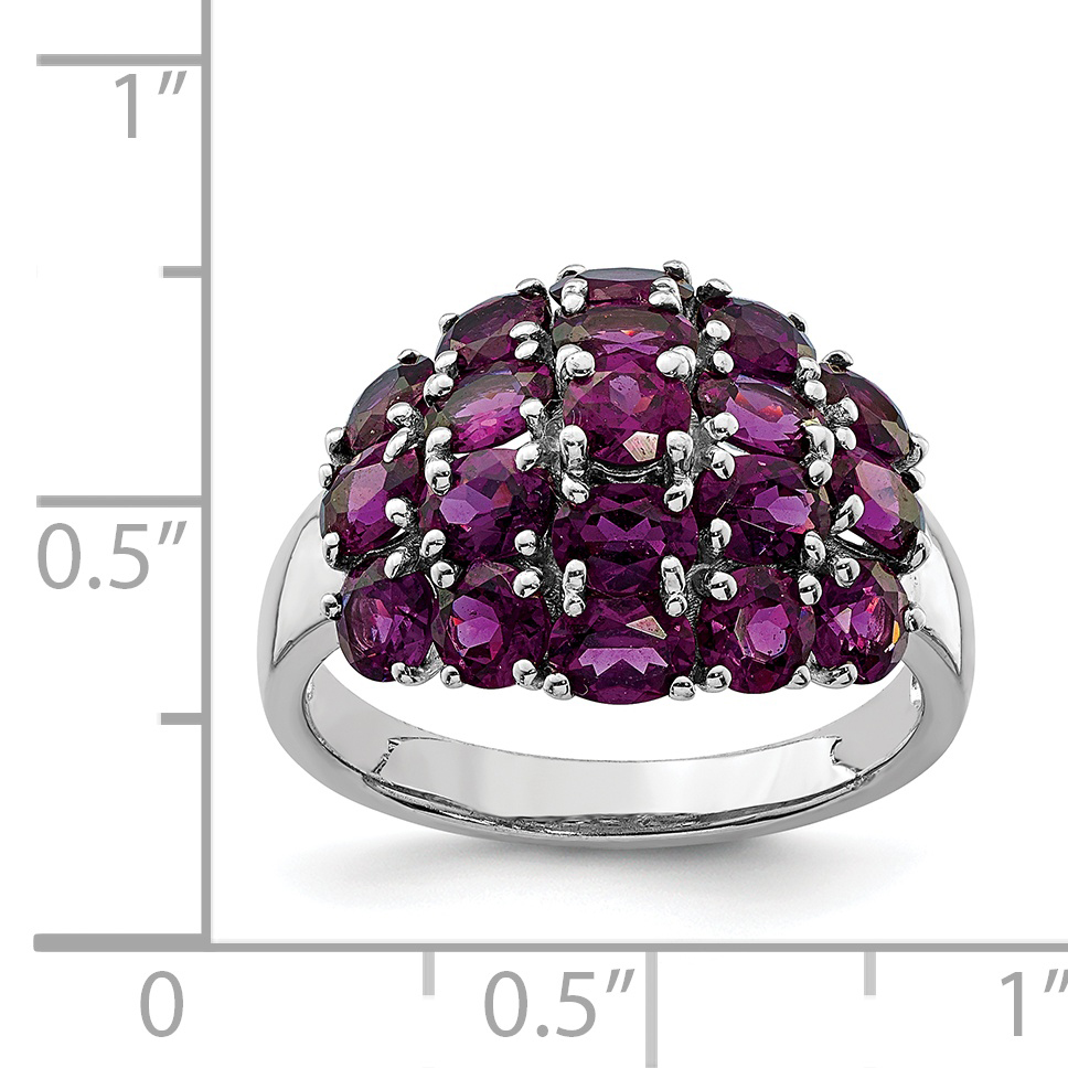925 Sterling Silver Rhodium-plated Garnet Ring - image 1 of 2
