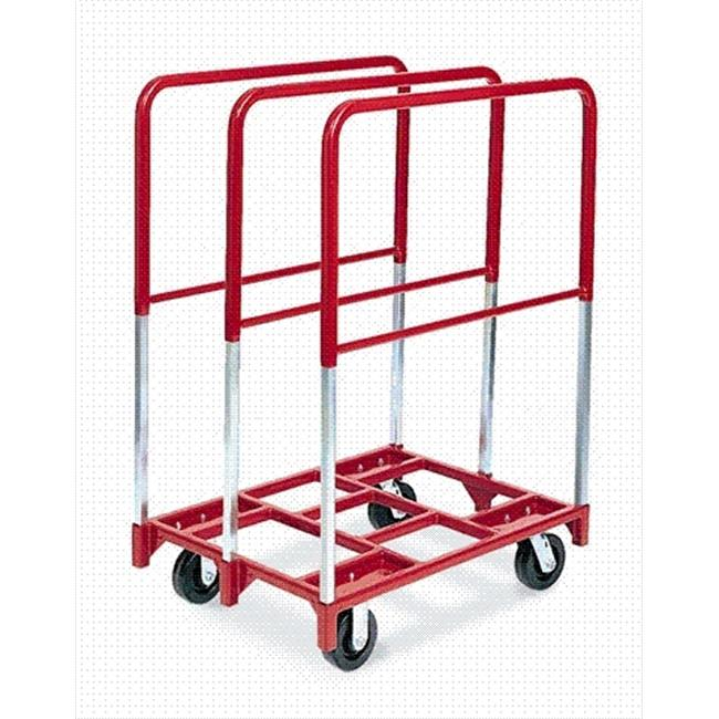 Raymond Products 3829 Panel Mover - 8'' Quiet Poly Casters  2 Fixed and 2 Swivel  3 Extra Tall Uprights