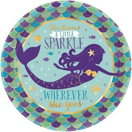 Mermaid 'Mermaid Wishes' Small Paper Plates (8ct)](Mermaid Plates)