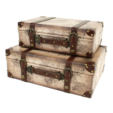 Aspire Home Accents Windsor Suitcase Trunks   Set Of 2