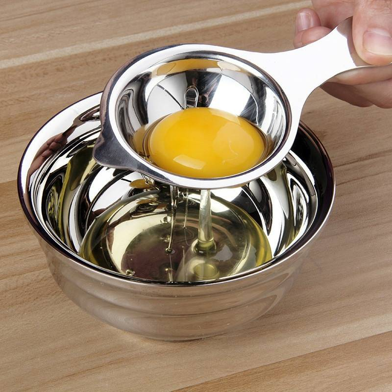Stainless Steel Kitchen Egg Yolk White Separator Gadgets Tools