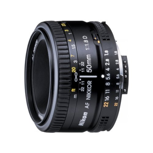Nikon AF FX NIKKOR 50mm f/1.8D Lens with Auto Focus for Nikon DSLR Cameras
