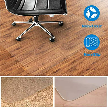 Home Cal Chair or Table Mats for Hardwood Floor Protection, Rectangular and Transparent (30''x39'') (Best Way To Clean Real Hardwood Floors)