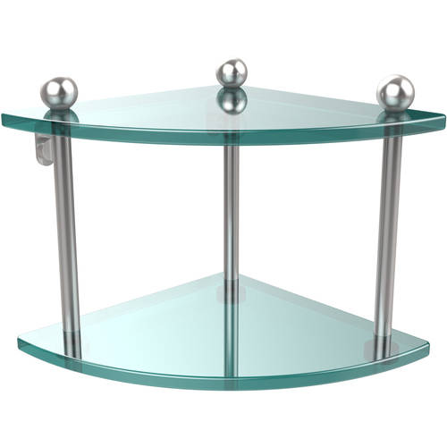 Two Tier Corner Glass Shelf (Build to Order)