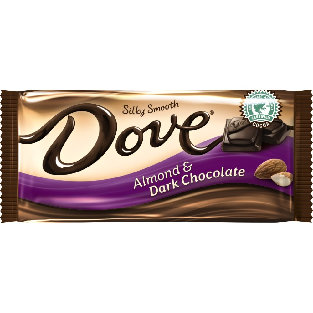 Dove Roasted Almond Silky Smooth Dark Chocolates, 3.3 oz by MARS, INC.