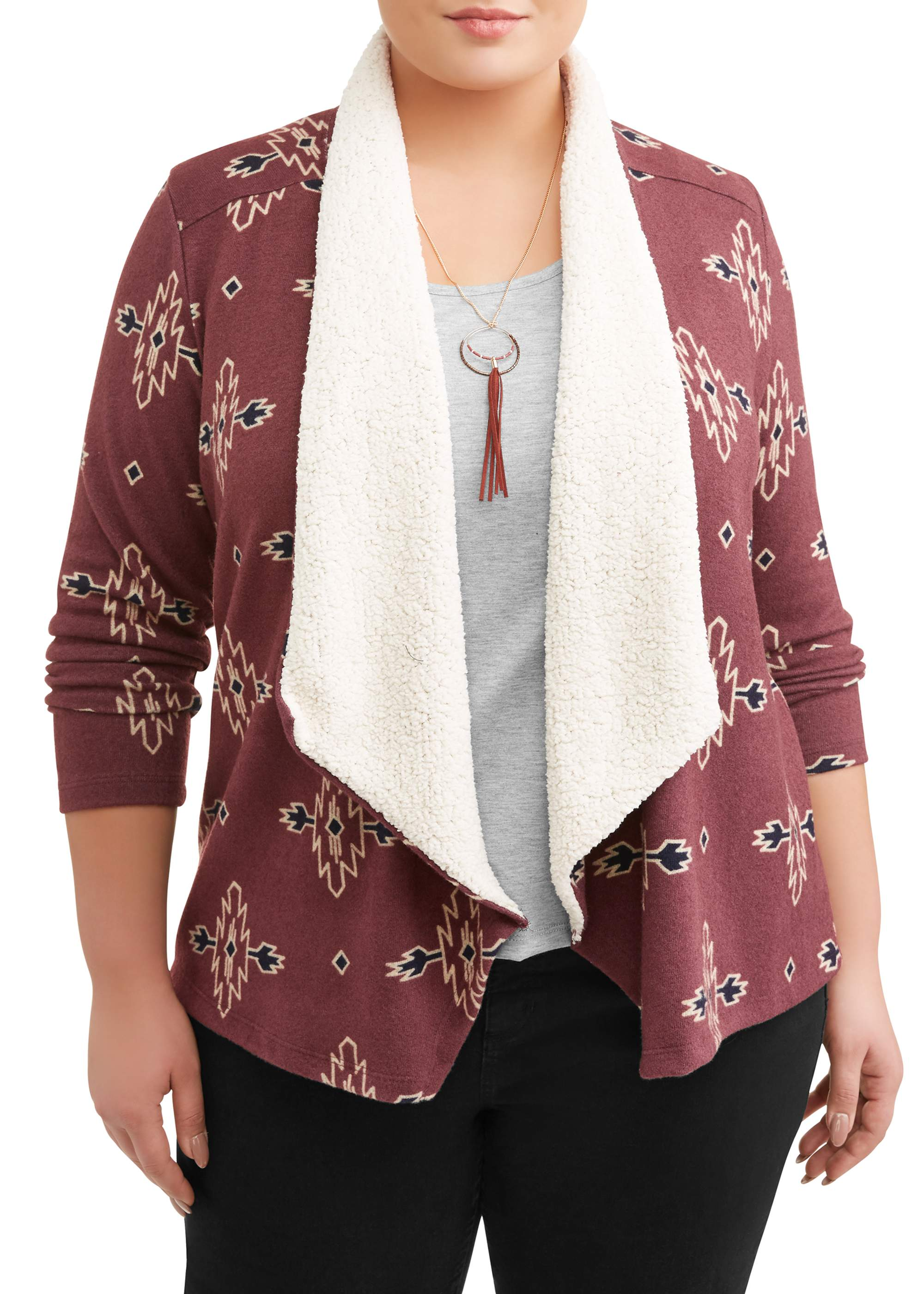 Women's Plus Size FlyAway Cozy with Necklace