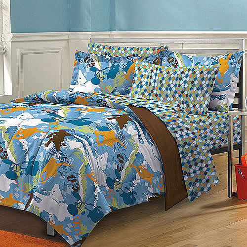 My Room Extreme Sports Complete Bed in a Bag Bedding Set, Brown/Multi