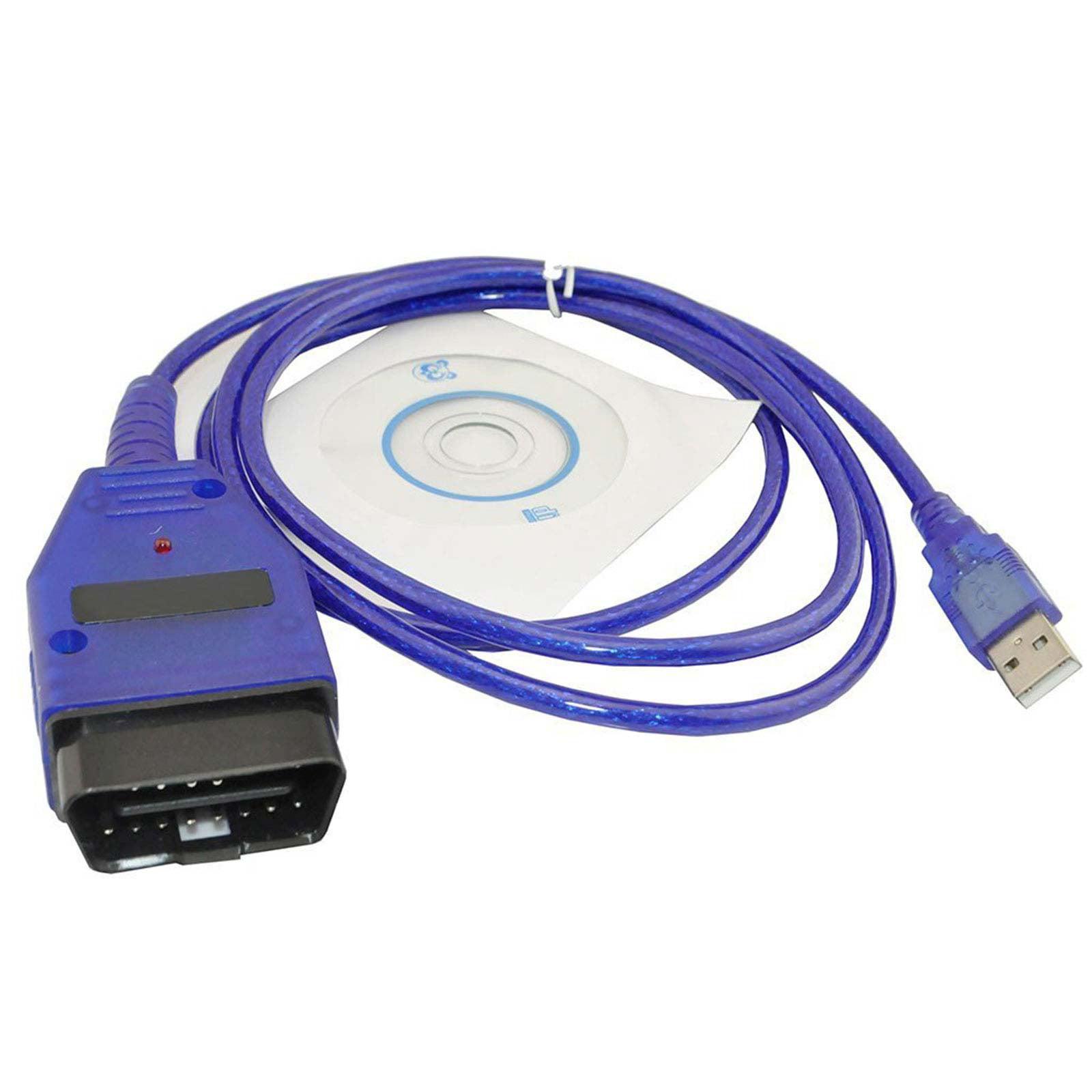 VAG-COM KKL 409.1 OBD2 USB Cable Scanner Scan Tool For Audi SEAT Volkswagen Auto