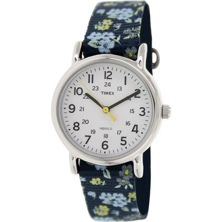 Women's Weekender T2P370 Blue Nylon Analog Quartz Watch