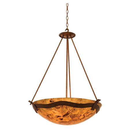 Weathered Iron Hand Finished Glass - Pendants 5 Light Bulb Fixture With Country Iron Finish Blaze Glass Hand Forged Iron E26 27