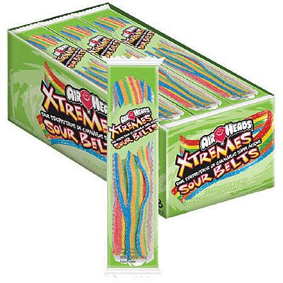 Airheads Xtremes Rainbow Sour Belts 2 oz. Tray: 18 Count