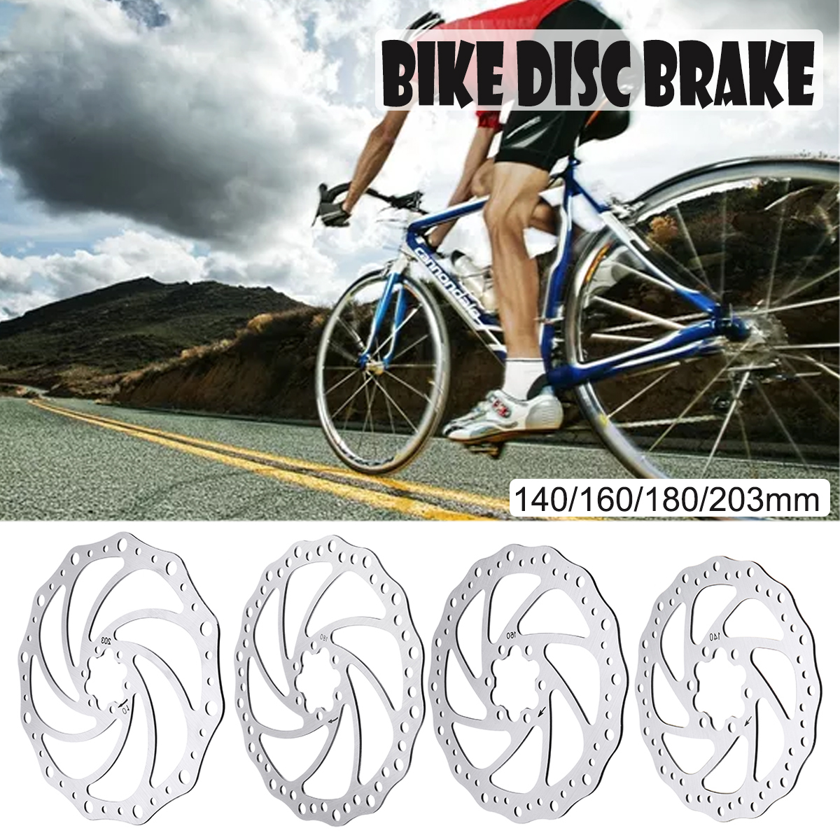 Disc Brake Stainless Steel Brake Surface Calipers Rotor 160//180//203MM Front Rear