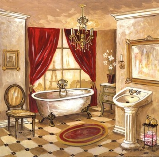 Persian Bath Poster Print by Gregory Gorham (12 x 12)