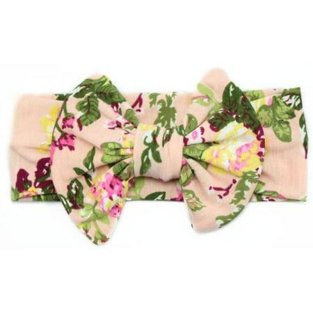 Iuhan Baby Elastic Flowers Big Bowknot Headband Girl Headdress - Big Headbands