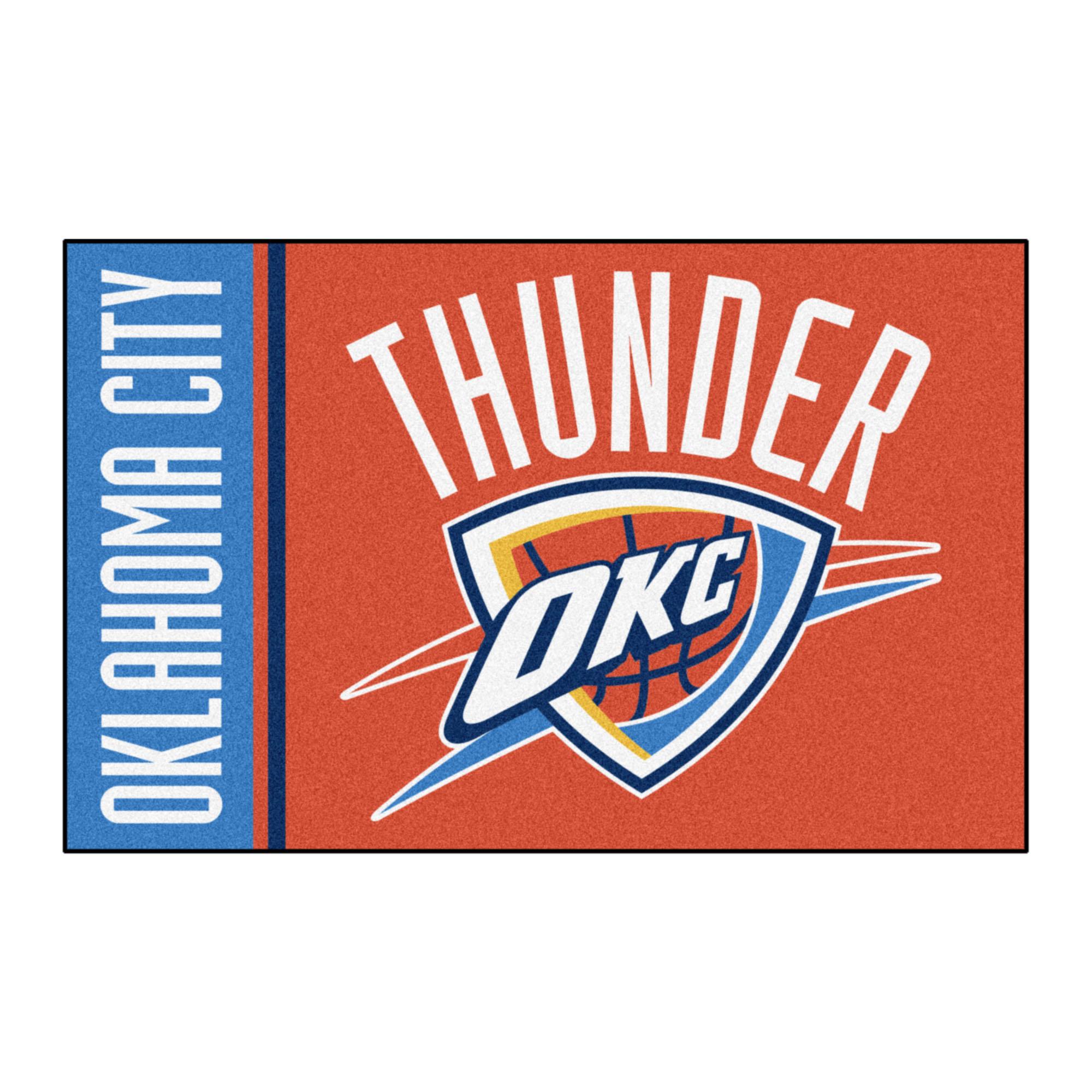 "NBA - Oklahoma City Thunder Uniform Starter Rug 19""x30"""