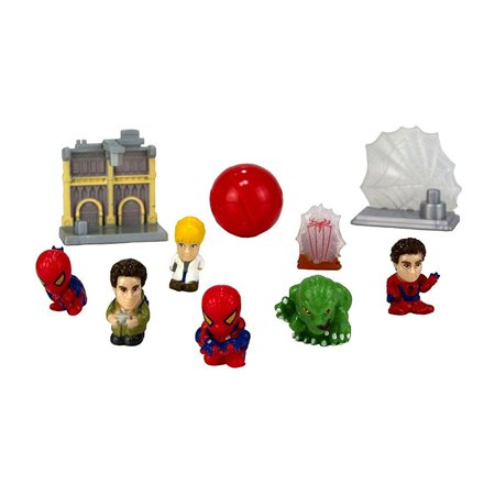 Squinkies MARVEL 10-Piece Bubble Spiderman Exclusive Movie with Tiny Toys Series1 ()