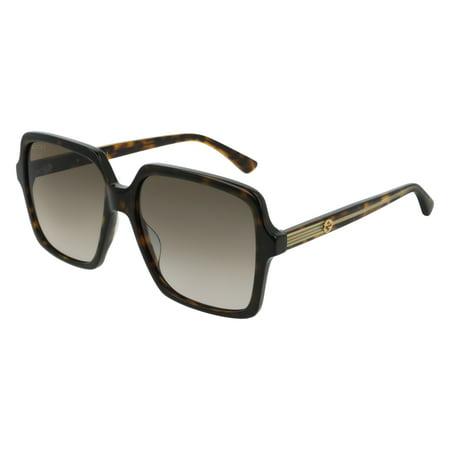 Gucci GG0375S Sunglasses 002 Havana