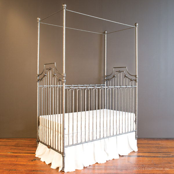 Bratt Decor Parisian 9 in 1 crib pewter