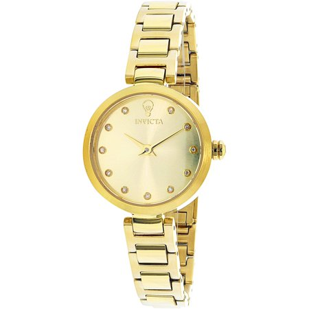 Invicta Womens Gabrielle Union 22949 Gold Stainless Steel Quartz Fashion Watch