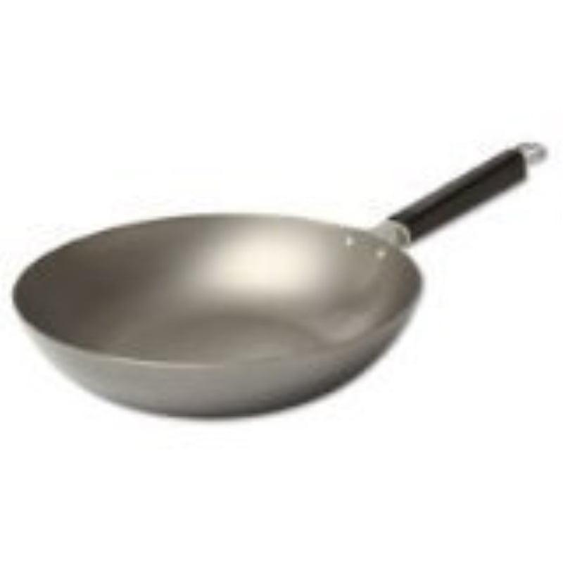 joyce chen 22-0050, pro chef peking pan uncoated carbon steel, 12-inch