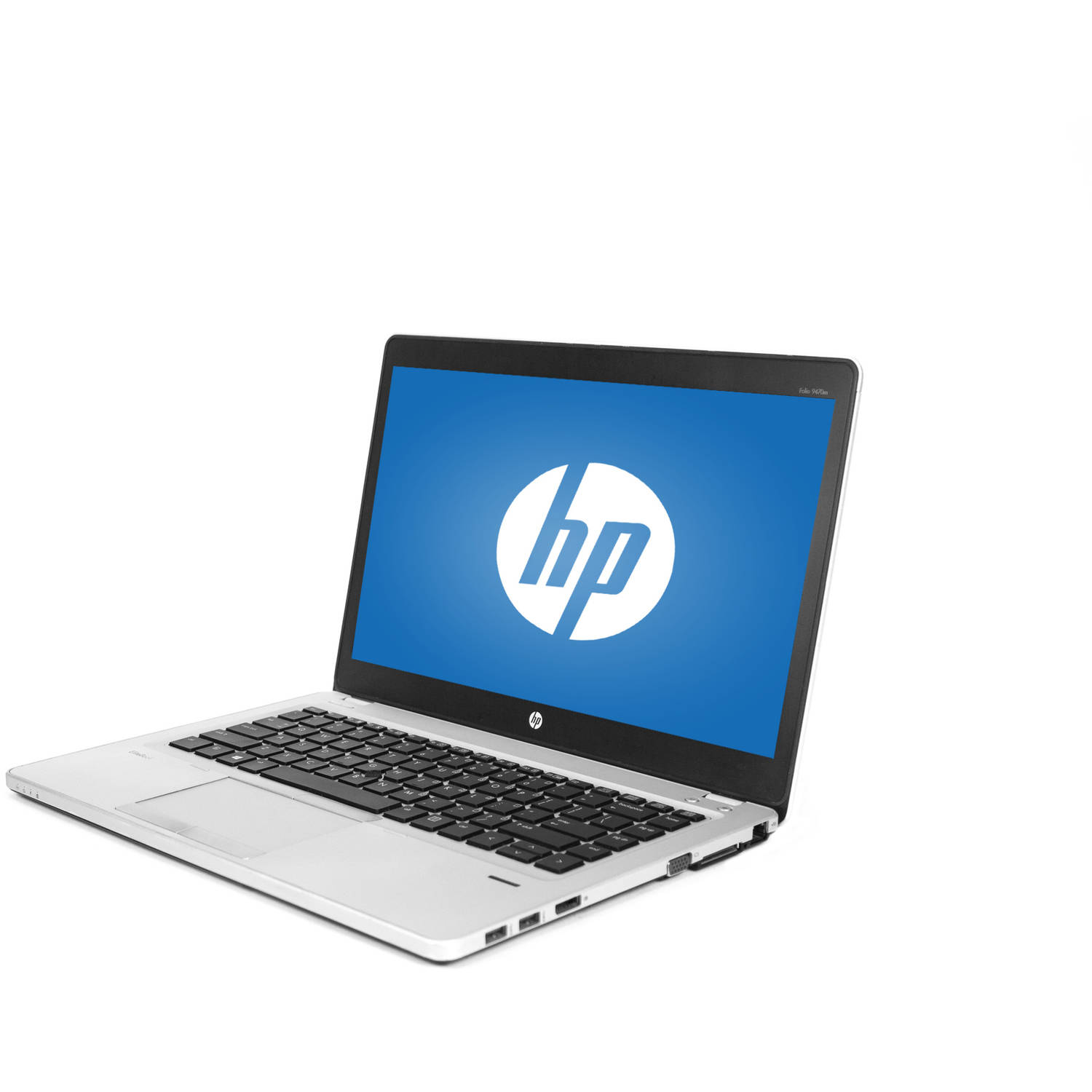 "Refurbished HP Ultrabook Silver 14"" EliteBook Folio 9470M WA5-1153 Laptop PC with Intel Core i5-1.8GHz 3427U, 8GB Memory, 128GB Solid State Drive and Windows 10 Home"