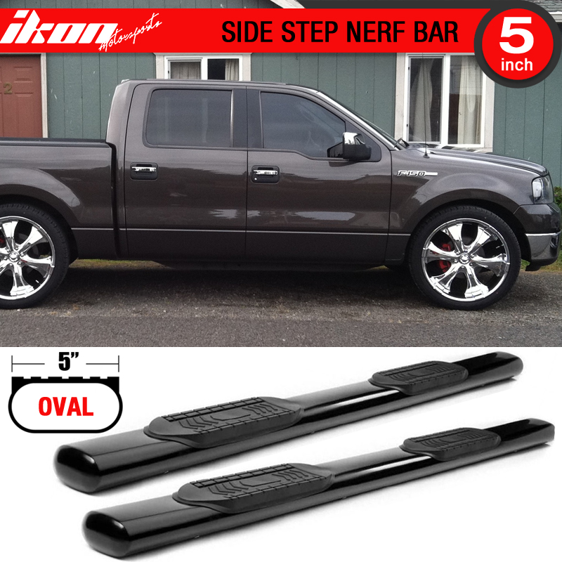 """Fit 2004-2008 Ford F150 Super Cab 4/"""" Oval Nerf Bars Side Step Running Boards"""
