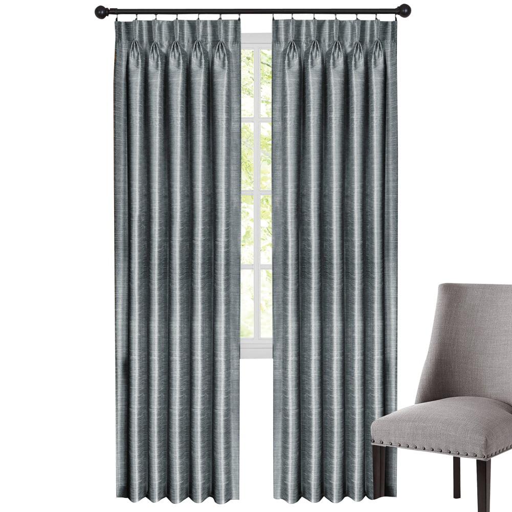 Achim Home Furnishings Parker Pinch Pleat Window Curtain Panel 34 X 84 Slate