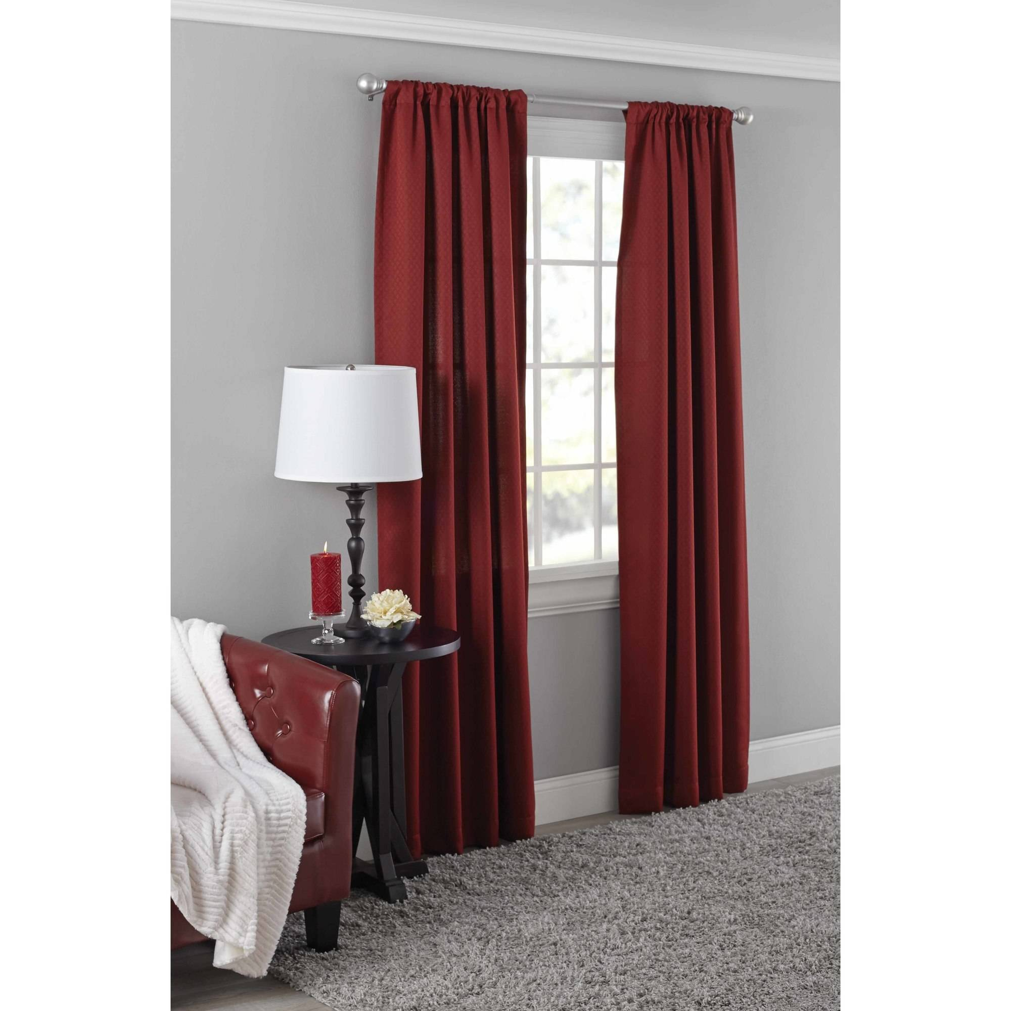 Mainstays Diamond Room Darkening Curtain Panel in Multiple Sizes and Colors